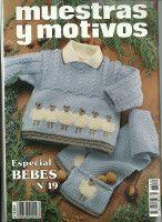 "Gallery.ru / tymannost - Альбом ""Muestras y Motivos Especial Bebes 19"" Baby Knitting Patterns, Baby Patterns, Free Knitting, Crochet Baby, Knit Crochet, Fingerless Gloves, Arm Warmers, Barn, Album"