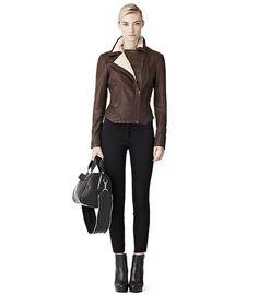 Reiss Evy Forties Leather Jacket (Cognac) | $467 (sale price)