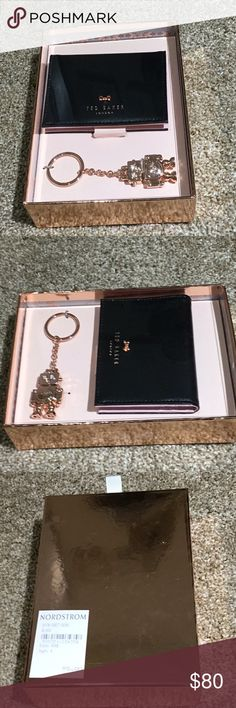 Ted Baker mini wallet and key chain Adorable Ted Baker wallet with Bell. Also comes with the robot keychain. Great for sell for a gift Ted Baker Bags Wallets