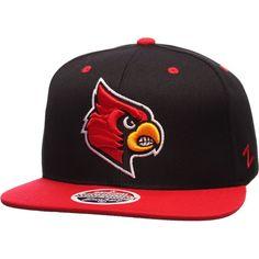 cheaper 91627 4daad Zephyr Men s Louisville Black Cardinal Red Z11 Snapback Hat, Size   Adjustable, Team