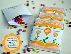 Seeds of Friendship ~ Free Printable Seed Packet Valentine DIY