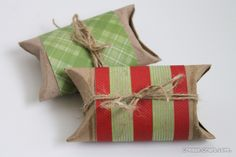 Great idea for wrapping gift cards/small gift items while recycling!