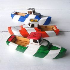 Stripe Trophy Toy Wooden Boat by ToyBoatWorks on Etsy Grand Marais, Hand Carved, Hand Painted, Wood Boats, Non Toxic Paint, Planks, Wooden Toys, Festivals, Best Gifts