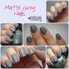Matte grey!