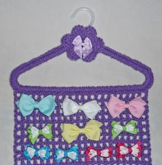 Hair Bow Holder PURPLE Closet Organizer by CraftCreationsEtsy