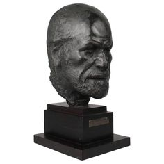 Large Bronze Bust of Psychoanalyst Sigmund Freud by Sculptor Oscar Nemon | From a unique collection of antique and modern sculptures at https://www.1stdibs.com/furniture/decorative-objects/sculptures/