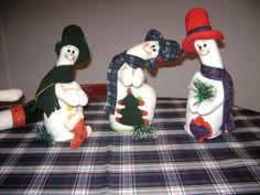 Trio de Nieve derretidos Christmas Snowman, Christmas Ornaments, Felt Art, Elf On The Shelf, Ronald Mcdonald, Projects To Try, Holiday Decor, Grinch, Snowman