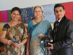 The Principal, chief guest and the director of our supporting partner #Eduprime with the #Humanoid #Robot