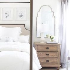 Farmhouse Bedroom Furniture Wood - Furniture Makeover Before And After Bedroom - Repurposed Furniture Ideas Picture Frames - Furniture Restoration White - Furniture Arrangement Ideas Fireplace Contemporary Bedroom, Modern Bedroom, White Bedrooms, Bedroom Simple, White Furniture, Bedroom Furniture, Furniture Ideas, Furniture Design, Furniture Makeover