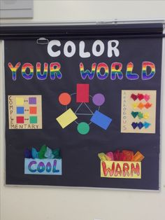 New color wheel bulletin board for my room.