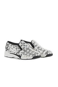 Scarpe Donna PINKO SEQUINS1H207H Y23z Sneaker tessuto ricamato Primavera  Estate 2016 Bianco argento 39 - http 11caddec0c1