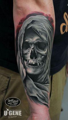 Tattoos I've done and tattoos I like Tattoos 3d, Skeleton Tattoos, Bild Tattoos, Badass Tattoos, Skull Tattoos, Trendy Tattoos, Body Art Tattoos, Sleeve Tattoos, Skull Tattoo Design