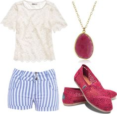 """""""Casual summer outfit"""" by sarahgpowell on Polyvore"""