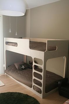 bunk bed cause i dont think kids should have a room all to themselves unless he
