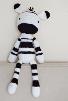 Crochet Amigurumi Zebra PATTERN ONLY Plush PDF Instant Download Toy Stuffed Animal Baby Toy
