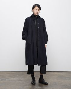 La Garçonne Moderne Drafting Trench Coat, Vintage Funnel Neck Cardigan, Academie Pant
