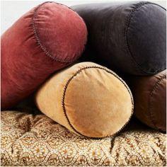 Bolster Cushions, Pillows, Roll Forming, Cotton Velvet, Armchair, Luxury, Color, Sofa Chair, Single Sofa