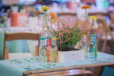 Ellie's Coachella Themed Party – Table Centerpiece / Setup