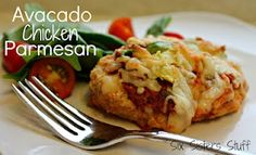 Avacado Chicken Parmesan by sixsistersstuff.com #recipe #chicken