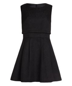 Another great find on #zulily! Black Layered A-Line Dress by Iska London #zulilyfinds