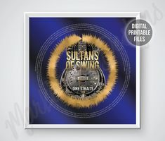 Sultans of Swing, Custom Sound Wave and Lyrics art, Radial soundwave printable digital files Sultans Of Swing, Printable Art, Printables, Blue Song, Ride The Lightning, Master Of Puppets, Fade To Black, Sound Waves, Custom Posters