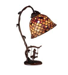 "Meyda Tiffany 15""H Tiffany Fishscale Accent Lamp"