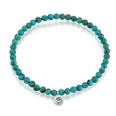 Silver Turquoise Om Bracelet - Inner Peace £38