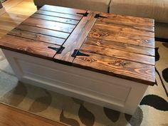 Farmhouse Storage Coffee Table Free Shipping