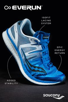 Introducing The Liberty. Free To Go Farther. Experience the ultimate in EVERUN cushioning with the Saucony Liberty ISO. Running Apparel, I Love To Run, Pumped Up Kicks, Workout Attire, Men Stuff, Workout Routines, Christmas 2017, Triathlon, Jogging