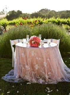 romantic outdoor table