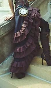 Steampunk skirt for sale. Worn once by vegan alt model Aijae Blossom for the Metallic Muse Creations Tempus Fugit shoot!!! :)