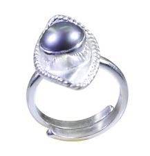 delightful Pearl 925 Sterling Silver White Ring supply L-1in US 5678