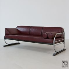 Art Déco tubular steel sofa in Aeronautic Streamline Design - Image 1