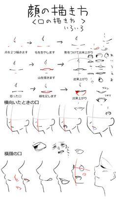 私流女の子の描き方(口の描き方いろいろ) 顔の描きかたのリクエストがあったので描いてみました。 次→考え中