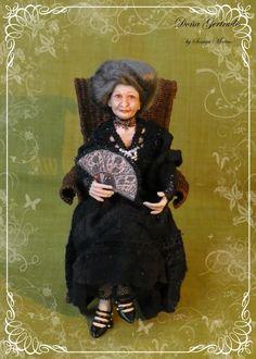 soraya dolls | ... KAUFMANN Doña Gertrudis ooak 1:12 dollhouse doll by Soraya Merino