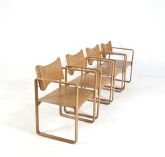 Set plywood chairs, model 270F, Danish design by Verner Panton for Thonet. Draft 1965/66.
