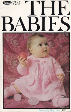 Patons The Babies in 3 Ply  Knitting Designs by jennylouvintage