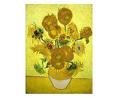Stampa fine art su canvas con telaio in legno Sunflowers - 100x70x4 cm