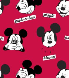 Disney Mickey Faces Fleece Fabric  Perfect for a blanket