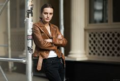 Acne Studios Leather Jacket. Garance Dore