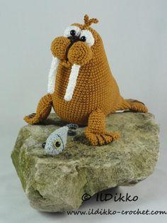 (4) Name: 'Crocheting : Walter the Walrus - Amigurumi Pattern