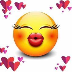 ❤💋 Emoticon Faces, Funny Emoji Faces, Funny Emoticons, Smiley Faces, Smileys, Images Emoji, Emoji Pictures, Cute Cartoon Pictures, Bisous Gif