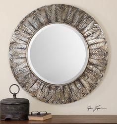 """Uttermost Foliage Round Leaf Mirror, 36"""". $325.60 at Wayfair."""