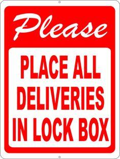Please Deliver all Packages to Front Door Sign Front door signs