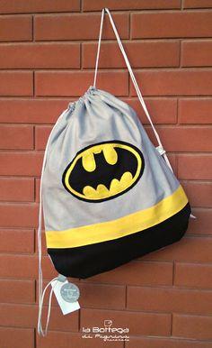 Mochila Batman, Monster Backpack, Kids Poncho, String Bag, Sewing Toys, Kids Bags, Cute Bags, Bag Storage, Art For Kids