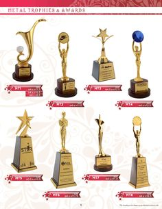 Imported Metal range of awards