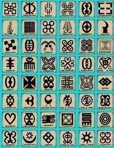Adinkra symbols are of African origin and reflect a system of human values that are universal: family, integrity, tolerance, harmony, determination, & protection among many others. Find a symbol that represents you.