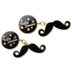 Wear Your Moustache on Your Sleeve with the Tatty Devine Moustache #movember #fashion trendhunter.com