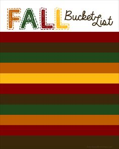 Fall Bucket List template--it's blank so you can add your own activities!