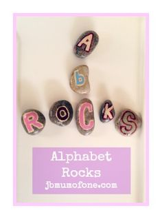 The Alphabet Rocks! Fun idea to make this summer at the cottage with all of the rocks my toddler brings home.